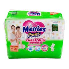 Merries Pants Baby Diapers Good Skin XL 26 Pcs
