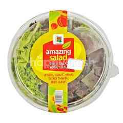Amazing Farm Organic Chef Salad + Honey Sauce