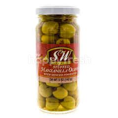S&W Premium Stuffed Manzanilla Olives