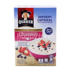 Quaker Srawberries & Bluberries Fruit Pieces With Instant Oatmeal (6 Packet)