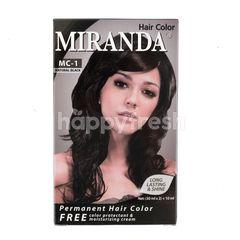 Miranda Pewarna Rambut Permanen Hitam Alami
