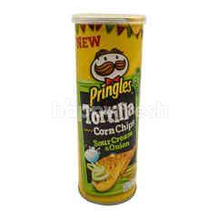 Pringles Sour Cream & Onion Tortilla Corn Chips