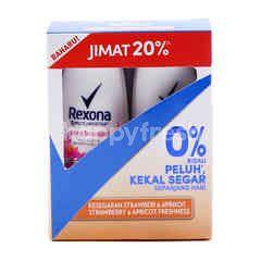 Rexona Twin Pack Strawberry & Apricot Freshness Deodorant