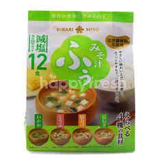 Hikari Miso Instant Miso Less Salt (12 Pieces)