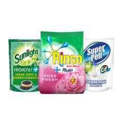 Unilever Rinso, Sunlight, Super Pell Ultimate Household Cleaning Kit