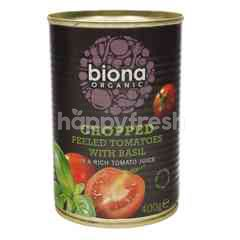 BIONA ORGANIC Chopped Peeled Tomatoes With Basil