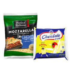Fonterra Chesdale Cheddar and Perfect Italiano Mozzarella Cheese Package