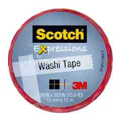 3M Scotch Expressions Washi Tape Warna Merah