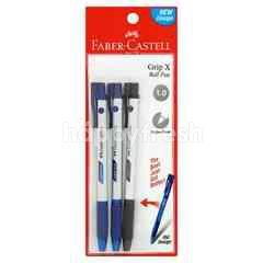 Faber-Castell Grip X Ball Pen (3 Pieces)