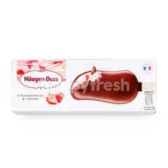 ฮ้าเก้น-ดาส สตรอเบอร์รี่แอนด์ครีม ไอศกรีม