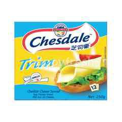 Chesdale Trim Cheddar Cheese Slices Spread (12 Slices)