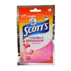 Scott's Vitamin C Peach Flavour Pastilles (15 Pieces)