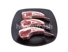 White Stripe Lamb Rack French Cap Off