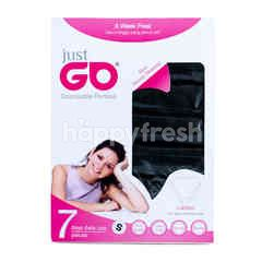 Just Go Black Disposable Panties Ladies S (7 pieces)