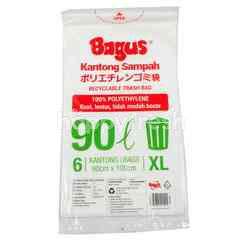 Bagus Recyclable Trash Bag 6's - Size XL