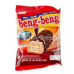 Beng-Beng Wafer Coated Caramel Cream With Chocolate With Rice Crispy