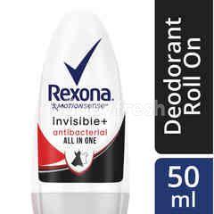 Rexona Invisible+ Antibacterial Roll On Deodorant