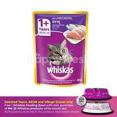 Whiskas Pouch Cat Wet Food AdultFresh Fish Mackerel 85G Cat Food