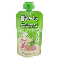Peachy Puree Bayi Apel Bayam dan Ubi Murni