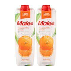 มาลี น้ำส้มแมนดารินผสมเนื้อส้ม 100% 1 ลิตร (แพ็ค)