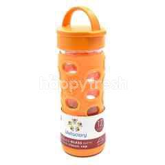 Lifefactory Reusable Glass Bottle With Classic Cap - Orange