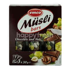 Emco Musli Bars Chocolate And Nuts