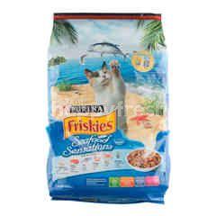 Friskies Seafood Sensations Makanan Kucing Dewasa Rasa Ikan Laut Salmon Tuna Udang Kepiting Rumput Laut