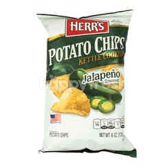Herr's Potato Chips Kettle Cooked Jalapeno Flavored