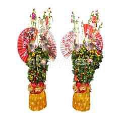 Emme Florist a Pair of Lunar Year Orange Tree Size L (2 pieces)