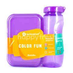 Technoplast Color Fun Kotak Makan + Botol Minum