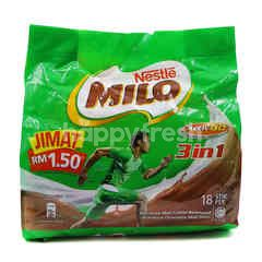 Milo 3 In 1 Drink (18 Stick)