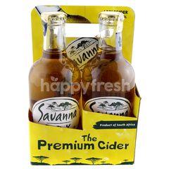 SAVANNA DARK Apple Beer & Cider Dry (4 Bottle)