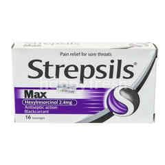 Strepsils Max Antiseptic Action Blackcurrant
