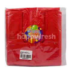 Happy Party Red Small Plastic Bag