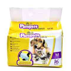 PAMPETS Medium Sized Pets Diaper (16 Pieces)