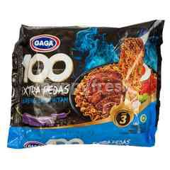 Gaga 100 Extra Spicy Blackpepper Level 3 Instant Fried Noodle