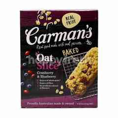 Carman's Baked Oat Slice With Cranberry & Blueberry Bars