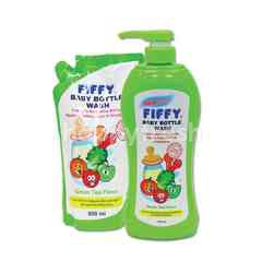 FIFFY Mint Flavoured Baby Bottle Wash With Refiill (2 Packet)