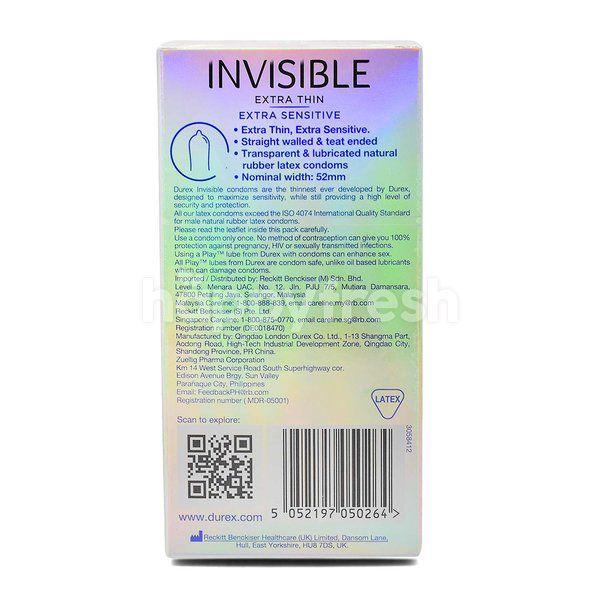 Durex Invisible Extra Thin Condom (10 Pieces)