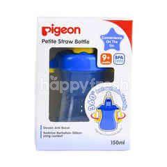 Pigeon Petite Straw Bottle Blue 9 Bulan Keatas