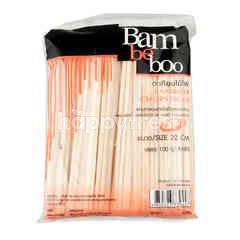 แบม บี บู ตะเกียบไม้ไผ่ 22 ซม. 100 คู่