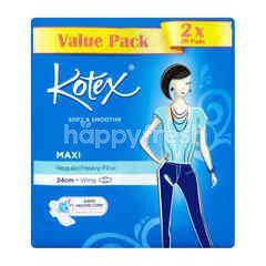 KOTEX Soft & Smooth Maxi - Regular/Heavy Flow - 24cm - Wing
