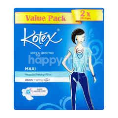 Kotex Soft & Smooth Maxi - Regular/Heavy Flow - 24cm - Wing