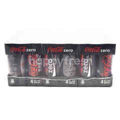 Coca-Cola No Calorie Carbonated Soft Drink 6x4x320ml