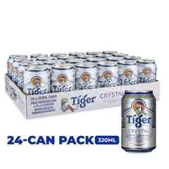 Tiger Crystal Lager Beer Cans 24x320ml
