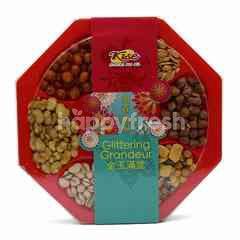 Kise Glittering Grandeur Hexagon Premiere Assorted Nuts