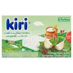 Kiri Spreadable Creamy Cheese With Garlic & Herbs (6 Portions)