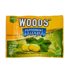 Woods' Strong Peppermint Lozenges Lemon