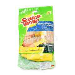 Scotch Brite Multi-Purposes Gloves. Fresh Lemon Scent (Size S)