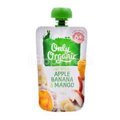 Only Organic Apple, Banana & Mango Puree